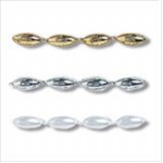 Pearl Beading: Plain: Drop: 25m x 3mm - Full Colour Range